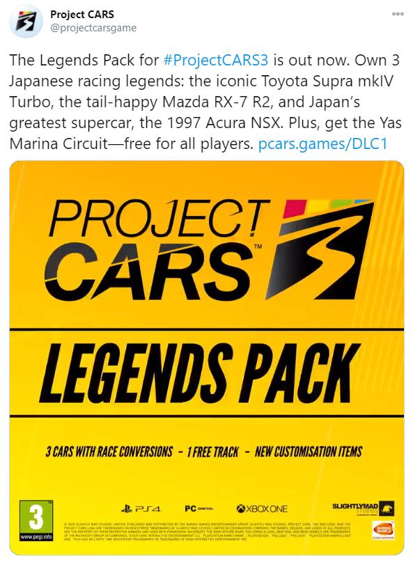 Project Cars 3 Legends DLC Pack