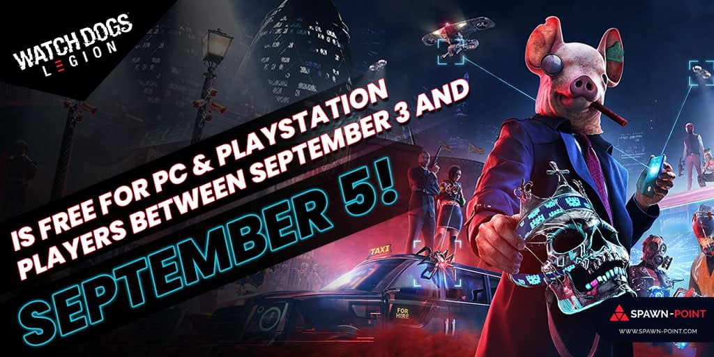 Watch Dogs Legion Is Free For PC And PlayStation Players Between September 3 and September 5-Header