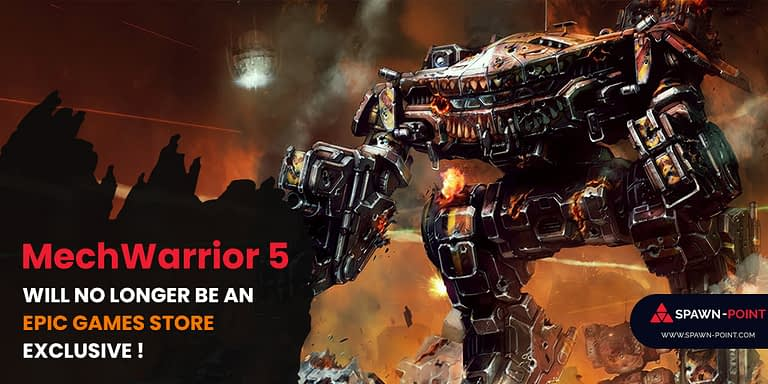 MechWarrior 5 Will No Longer Be An Epic Games Store Exclusive - Header